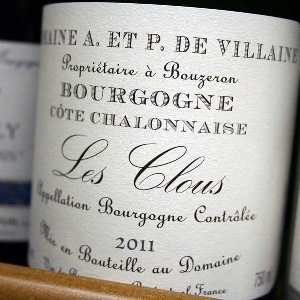 DOMAINE A. et P. DE VILLAINE, LES CLOUS 2013