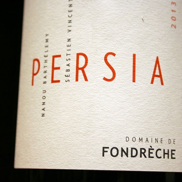 DOMAINE DE FONDRECHE, PERSIA 2013