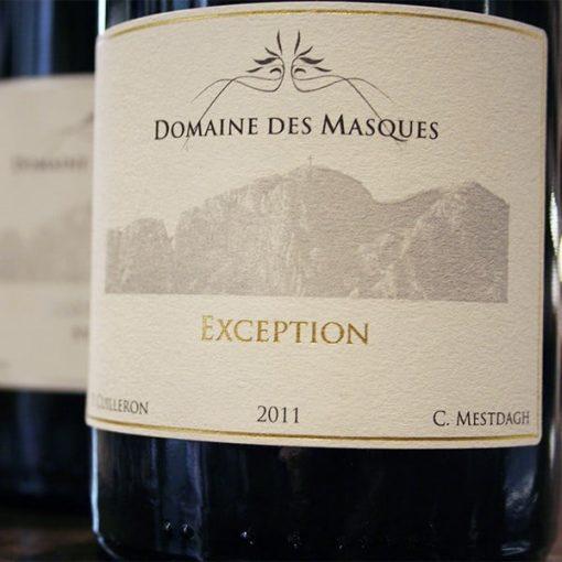 DOMAINE DES MASQUES, EXCEPTION SYRAH 2013