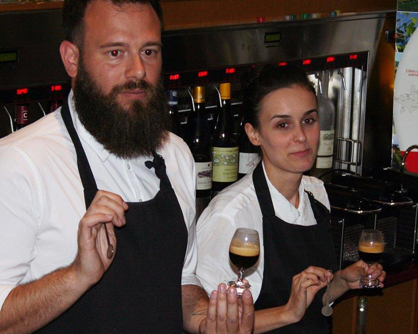 Café+vin = Nespresso Devant Soi
